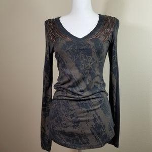 Miss Me long sleeved embellished tee